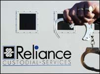 Reliance van and handcuffs