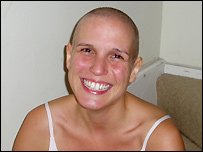 Emily Stevenson during chemotherapy