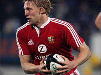 Lewis Moody in action against Taranaki