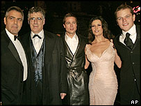 George Clooney, Elliott Gould, Brad Pitt, Catherine Zeta-Jones and Matt Damon