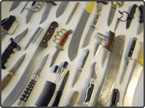 Collection of knives found in London schools