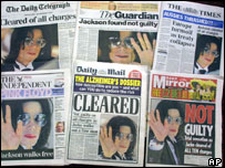 Michael Jackson front pages
