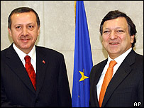 Turkish Prime Minister Recip Tayyip Erdogan and EU Commission president Jose Manuel Barroso met in Brussels last week