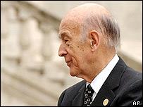 Former president of France Valery Giscard d'Estaing
