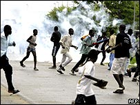 Riots in the Ivory Coast