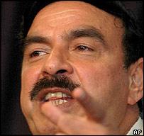 Pakistani Information Minister, Sheikh Rashid