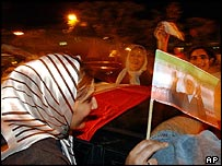 Small demonstration by Rafsanjani supporters