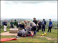 The Dalek on Glastonbury Tor