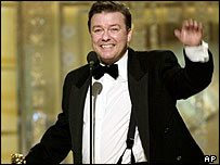 Ricky Gervais at the last Golden Globes