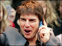 Tom Cruise at the European premiere of War of the Worlds