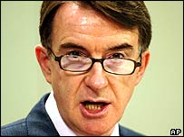 European Commissioner Peter Mandelson