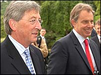 Jean-Claude Juncker (left) and Tony Blair