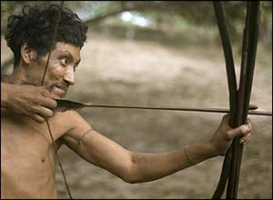 Awa hunter, Brazil. Copyright: Survival International