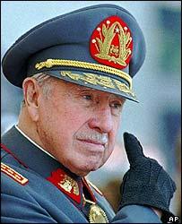 Gen Augusto Pinochet in 1997