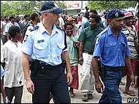Australian police in Papua New Guinea