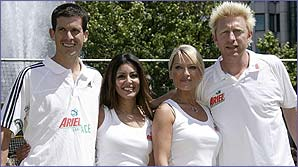 Tim Henman, Laila Rouass, Zoe Lucker and Boris Becker