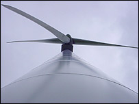 A Cefn Croes wind turbine