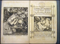 A bookof poetry by Christina Rossetti