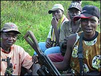 Aremed militiamen in DR Congo