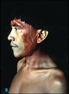 Yanonami shaman, Brazil. Copyright: Survival International