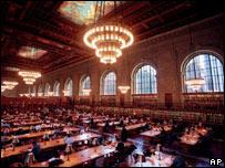 Sala de lectura de la Biblioteca Pública de Nueva York