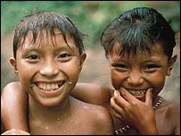 Yanomami girls, Demini, Brazil. Copyright: Survival International