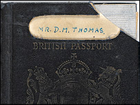 Dylan Thomas' passport (picture: The National Library of Wales)