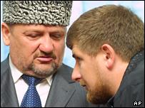 Akhmad Kadyrov and his son Ramzan