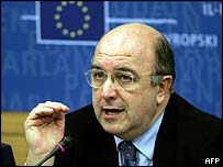EU Commissioner for Economic and monetary affairs, Joaquim Almunia