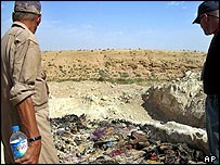 A mass grave site in the northern Iraqi town of Hatra
