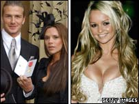 Beckhams and Jennifer Ellison