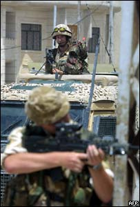 British soldiers on patrol in Iraq