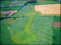 Thornborough Henges from the air