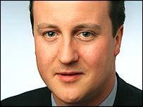 Shadow education secretary David Cameron