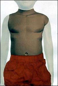 Computer generated image of a boy given the name Adam whose torso was found floating the  Thames