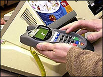 Using chip and pin machine