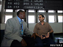 Mr Shah with a Kenyan official