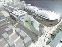 An artist's impression of the King's Dock plans