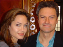 Gavin Esler and Angelina Jolie