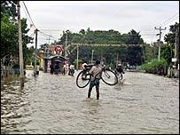 Flood scene in Batticaloa