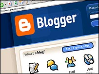 Blogger.com front page