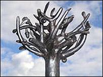 Impression of bronze tree sculpture