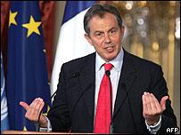 Tony Blair, primer ministro del Reino Unido