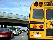 bus in traffic