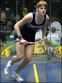 Women's world squash champion Vanessa Atkinson