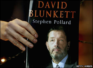 Mr Blunkett's biography contains critical comments about fellow cabinet ministers - a move that might have alienated some of his supporters.