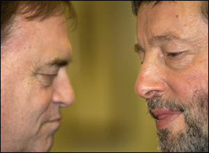 "John Prescott (left)  said Mr Blunkett accepted a degree of ""personal arrogance"" was behind his current  predicament"