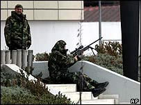 Sniper near the hijacked bus