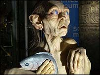 Model of Gollum from Lord Of The Rings