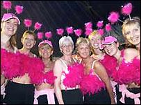 Women taking part in the Moonwalk